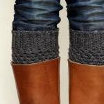 Crochet Boot Cuffs in Dark ..