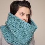 Chunky Crochet Cowl Snood i..
