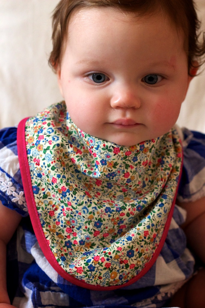 Nellie - Bandana Dribble Bib - floral bib